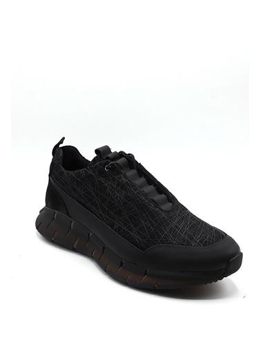 La scada Sıyah Çızgılı Erkek Spor Ayakkabı 12548 Siyah